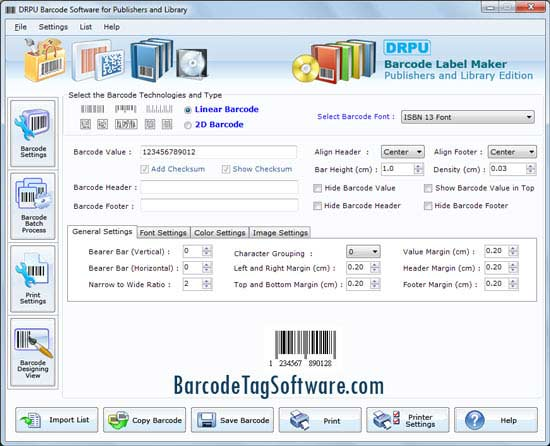 Windows 7 Barcode Tag Maker Software 7.3.0.1 full