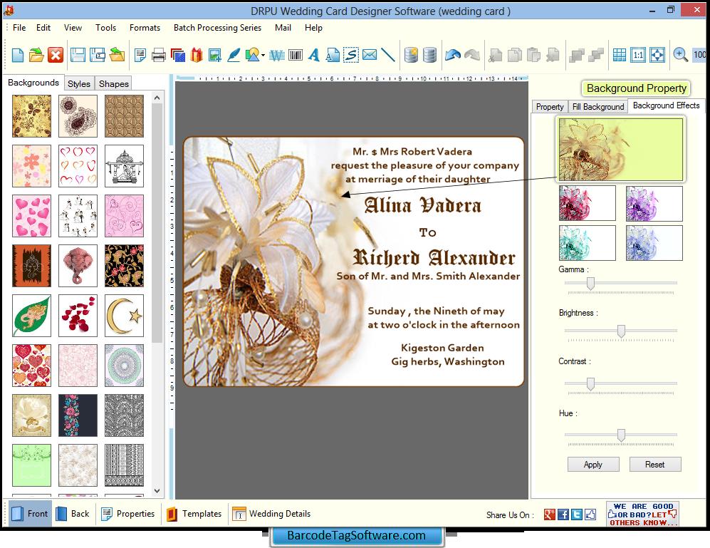 Wedding Card Designer Software Barcodetagsoftware